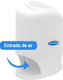 Purificador e Esterilizador de Ar Sterilair como funciona: Entrada de ar